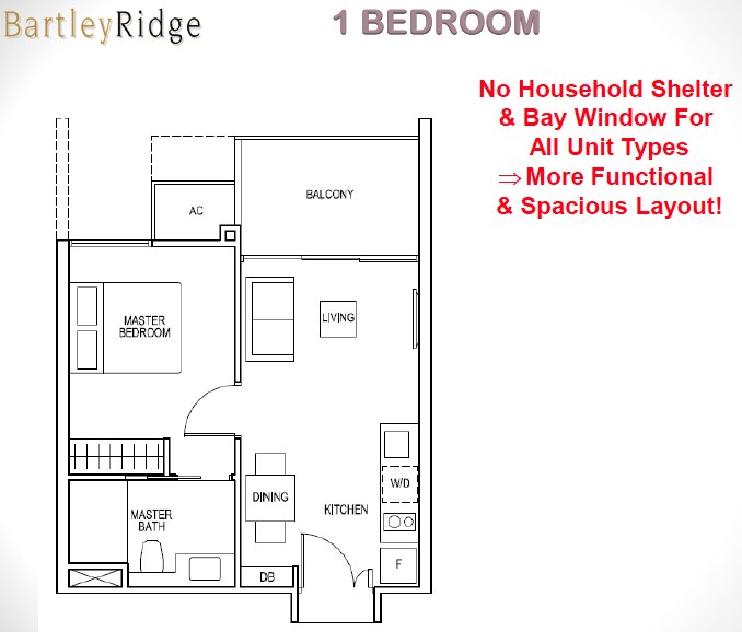Bartley Ridge Floor Plan 1 Bedroom
