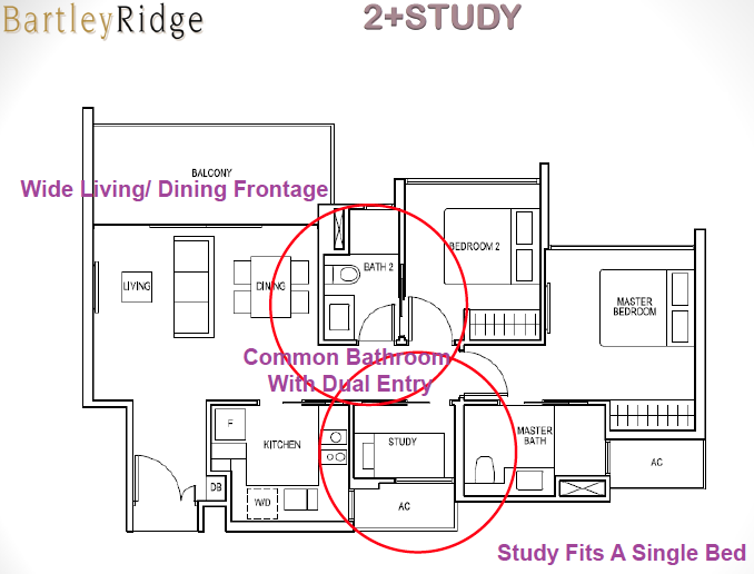 Bartley Ridge Floor Plan 2 Bedroom + Study