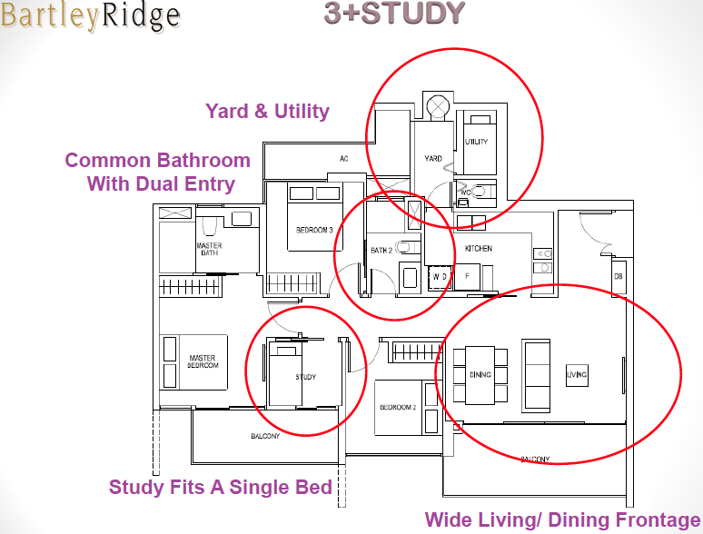 Bartley Ridge Floor Plan 3 Bedroom + Study