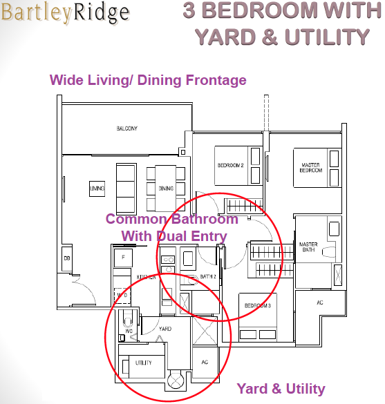 Bartley Ridge Floor Plan 3 Bedroom + Utility
