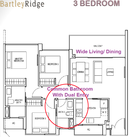 Bartley Ridge Floor Plan 3 Bedroom